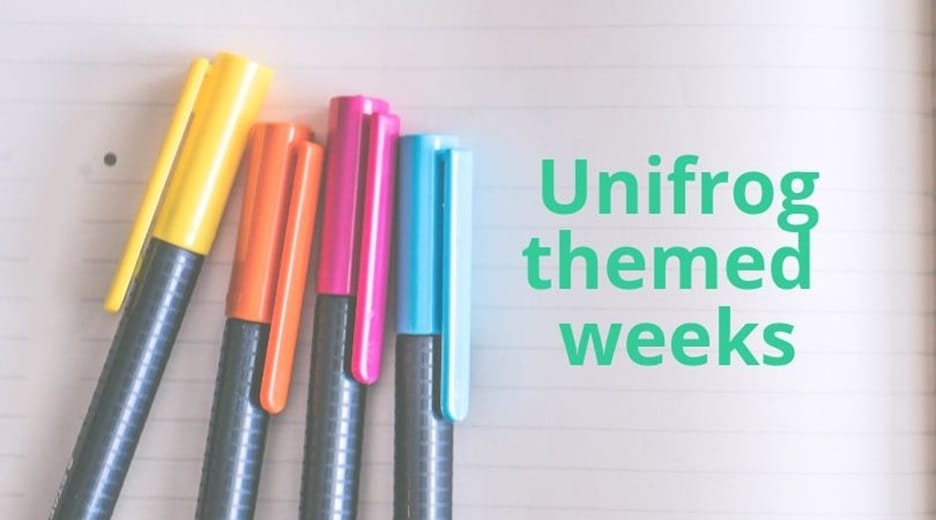 Introducing Unifrog themed weeks