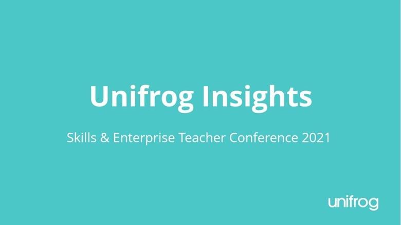 Skills & Enterprise Conference - Unifrog insights