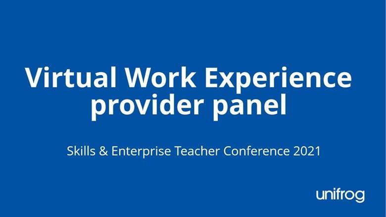 Skills & Enterprise Conference - Virtual WEX provider panel