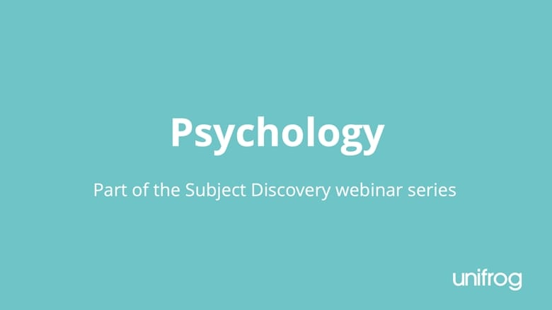 Subject Discovery Series: Psychology