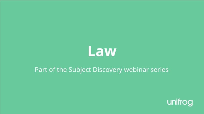 Subject Discovery Series: Law