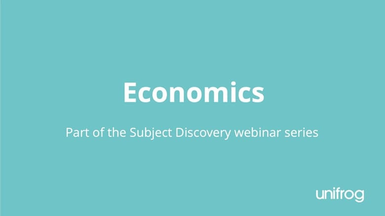 Subject Discovery Series: Economics