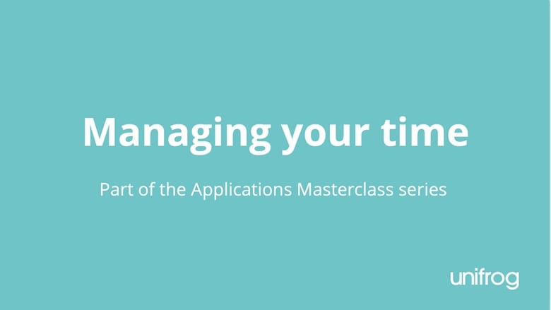 Masterclass series: Managing your time